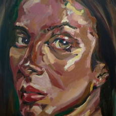 Anna Friel - 91cm, 61cm, oil on canvas