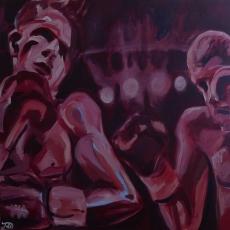 Champion - 100cm, 100cm, oil on canvas