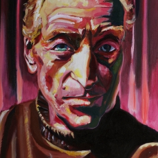 Charles Dance - 91cm, 61cm, oil on canvas