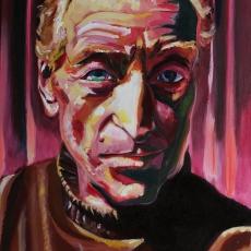 Charles Dance - 91cm, 61cm, oil on canvas