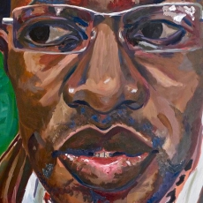 David McAlmont - 100cm, 100cm, oil on canvas