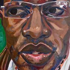 David McAlmont - 100cm, 100cm, oil on canvas