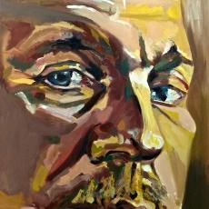 David Thewlis - 91cm, 61cm, oil on canvas