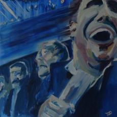 Football Mania - 100cm, 100cm, oil on canvas