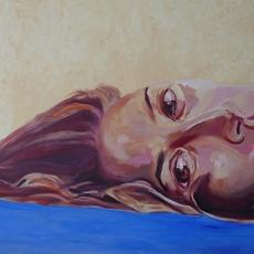 Halla Juffali - 76cm, 122cm, oil on canvas