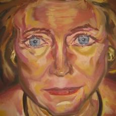 Margaret Levin - 61cm, 46cm, oil on canvas