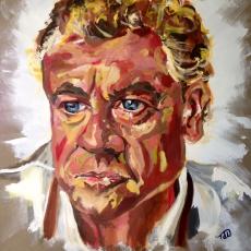 Tony McGee - 100cm, 100cm, oil on canvas