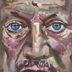 Steven Berkoff - 61cm, 46cm, oil on canvas