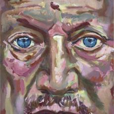 Steven Berkoff - 61cm, 46cm, oil on canvas