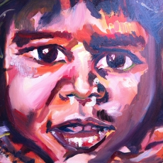 Street Child - 50cm, 70cm, oil on canvas